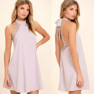 Lulus Any Sway, Shape, Or Form Lace Halter Dress